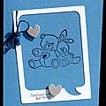 13. bleu, blanc et gris - polaroïde et doudous