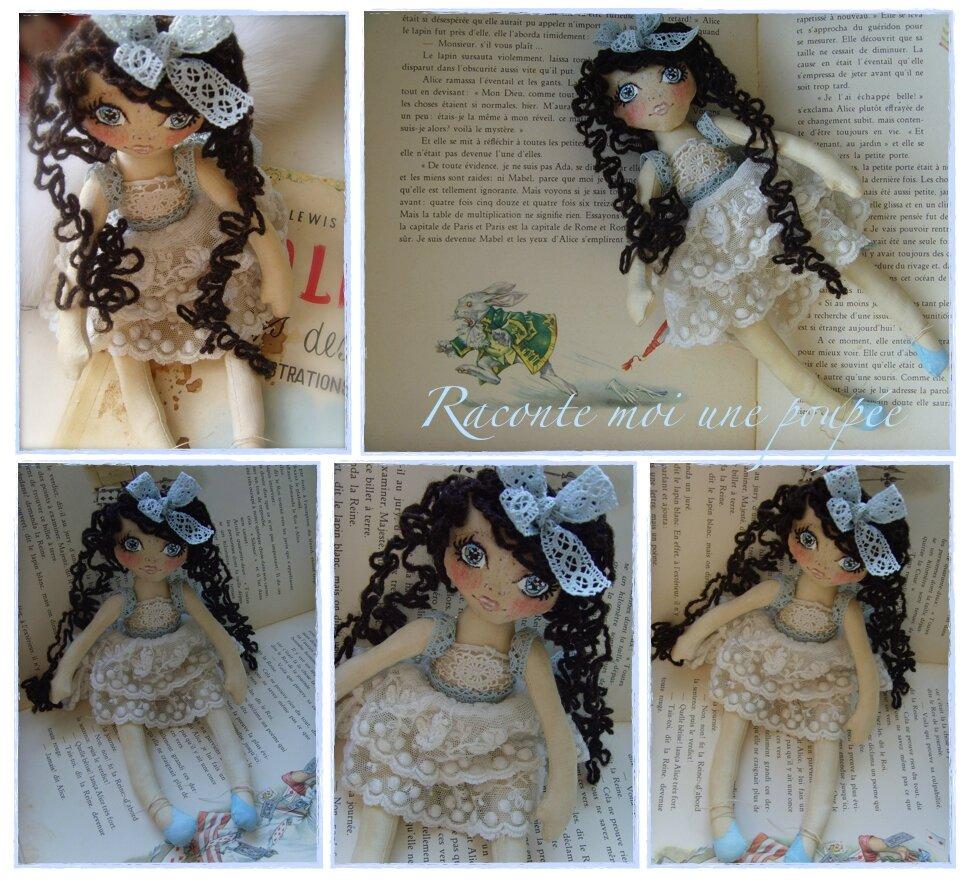 Alice , poupée d'artiste