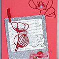 carte d'anniversaire féminine avec fleurs