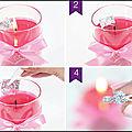 Bague - boucles d'oreilles - bracelet - pendentif - true love - bougie parfumée - jewelcandle