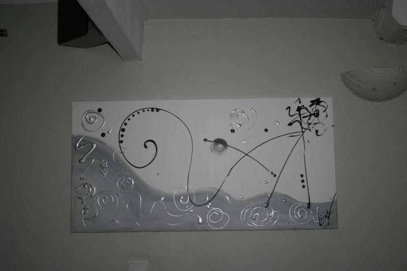 tableau abstrait contemporain nunu et scarelette rouge noir blanc l art contemporain. Black Bedroom Furniture Sets. Home Design Ideas
