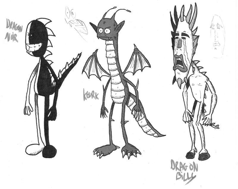 Recherches dragons niveaux de gris