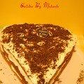 Gâteau au chocolat et aux griottes en forme de coeur pour le nouvel an 2008