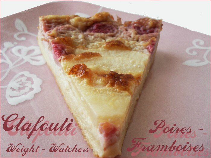 clafoutis poires - framboises ww - weight watchers 1