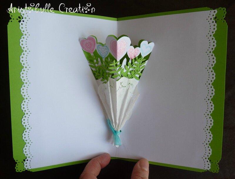 Carte mariage bouquet - intérieur