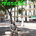 Bronze statue of Pablo Picasso, Malaga.