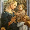 1ère RENAISSANCE 1465_Vierge à l'enfant avec deux anges_Lippi