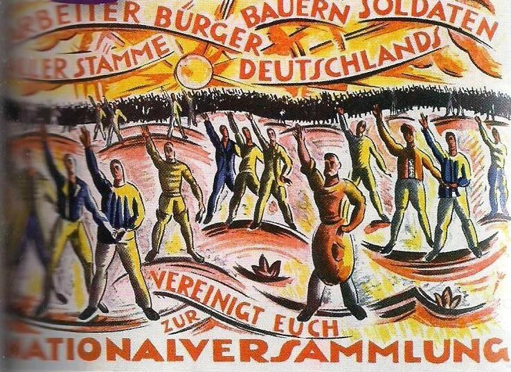 affiche mouvement socialiste Weimar - SPD parti démocratique