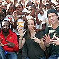Angelina Jolie et Brad Pitt à Haïti