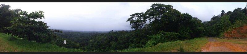 Vue sur la route de Cacao
