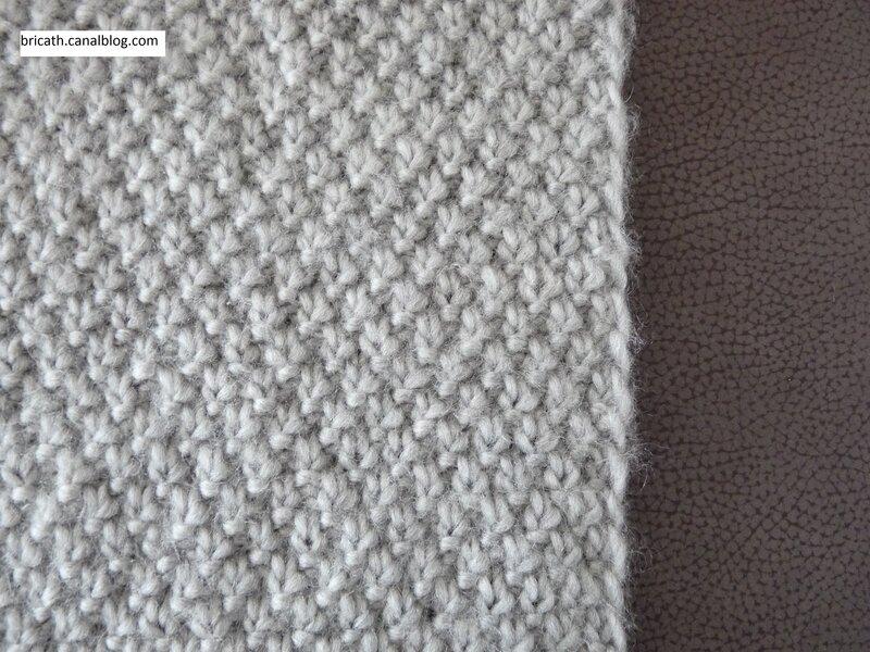 Plaid au point de bl bricath - Point de ble au tricot ...