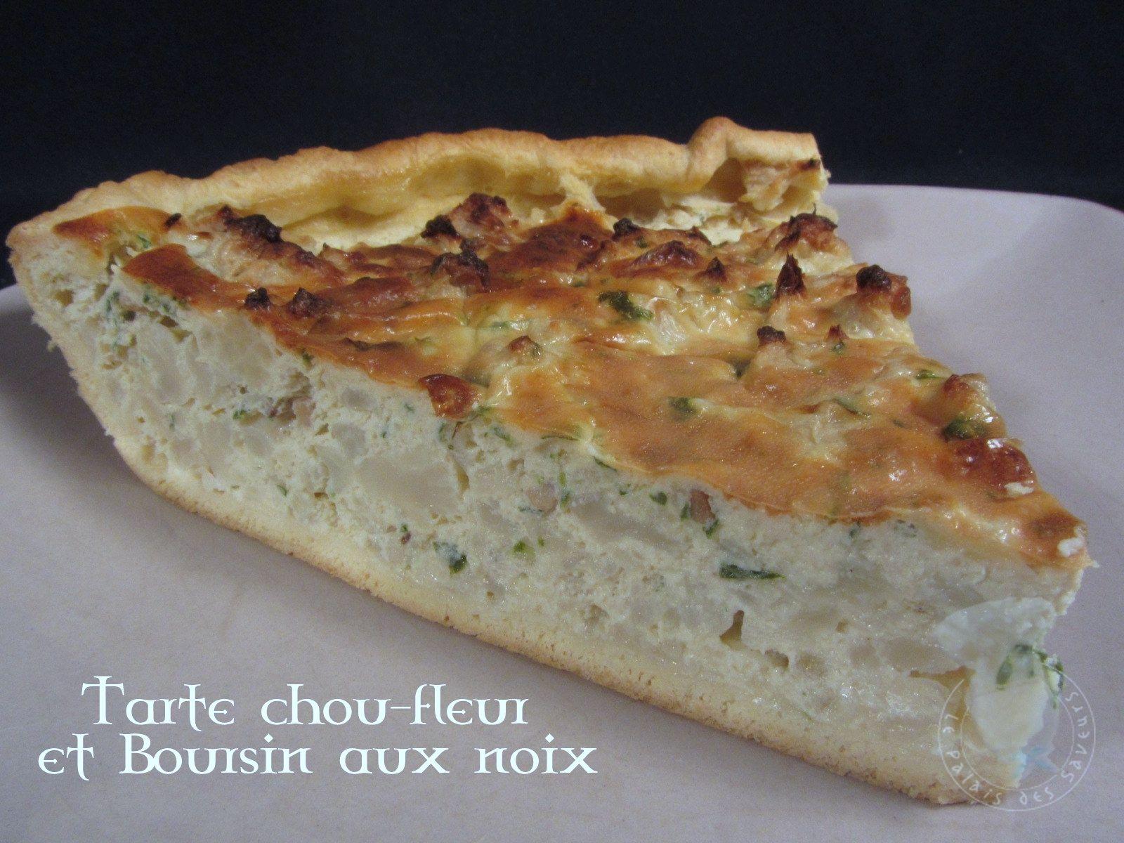 tarte chou-fleur et boursin aux noix - le palais des saveurs