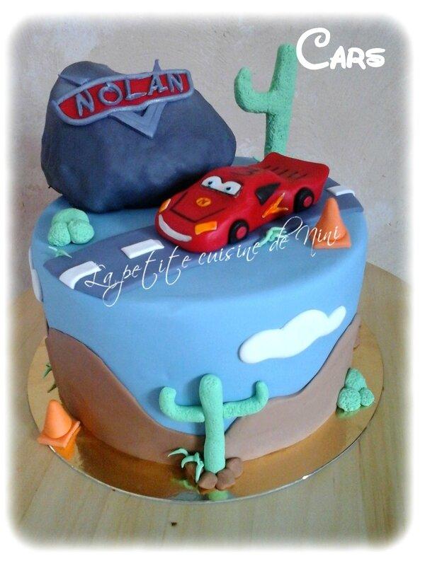 Gâteau d'anniversaire Cars
