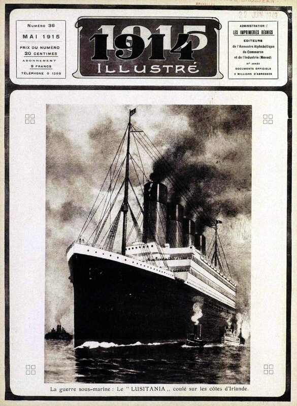 1915 illustré lusitania