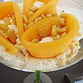 Tiramisu sale au melon et chevre