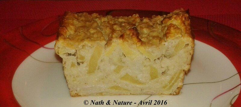 Gâteau aux flocons d'avoine pomme-banane version healthy - 1