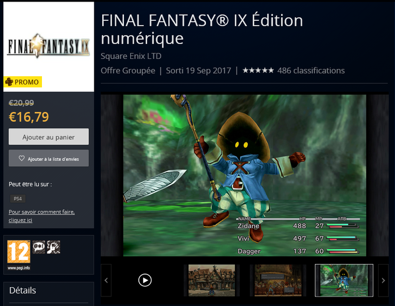 FF9 HD PS4