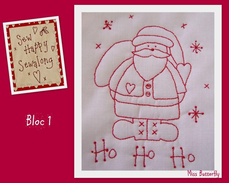 Sew Happy x-mas SAL bloc 1