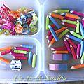 Crayons et gommes en polymère