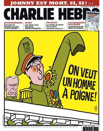 François Hollande, Jean-Marc Ayrault, Les Unes de Charlie Hebdo, PS