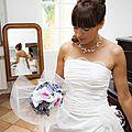 bouquet de mariée original féérique rose gris blanc strass Ines mademoiselle cereza deco