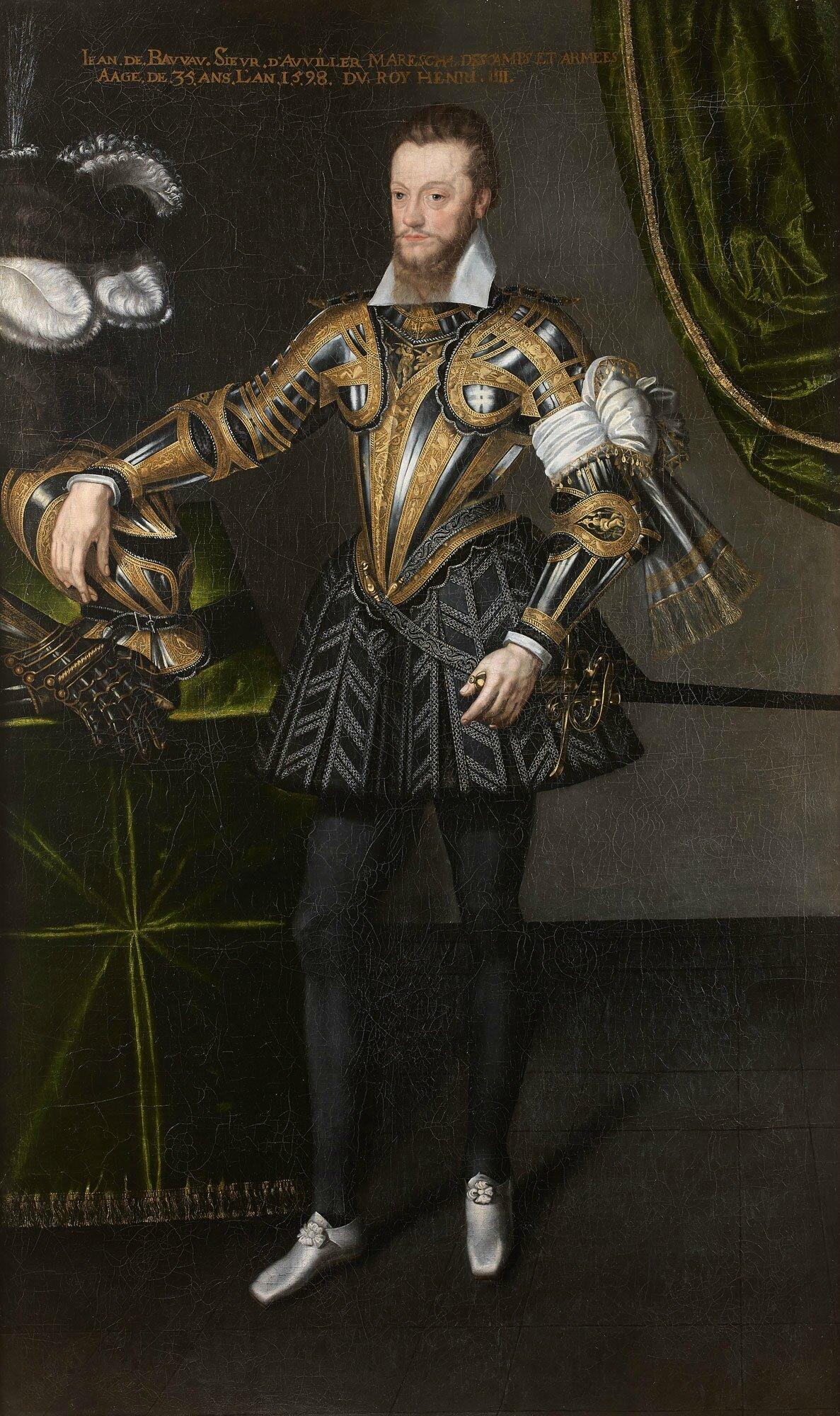 Attribué à François Quesnel (1543-1619), Portrait de Louis de Beauvau à l'âge de 29 ans