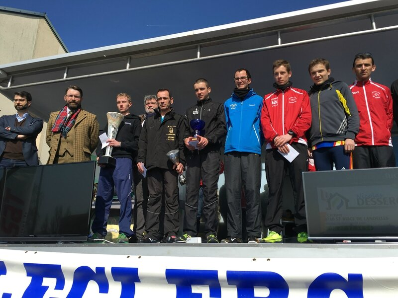 Athletic Club Avranches podium course 2016 10km homme