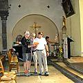 Concert impromptu dans l'église de Solignac