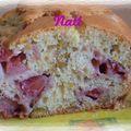 Cake aux fraises et pistache