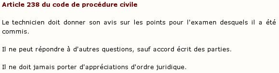 Article 238 du code de procédure civile :