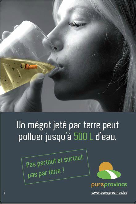 megot pollue eau