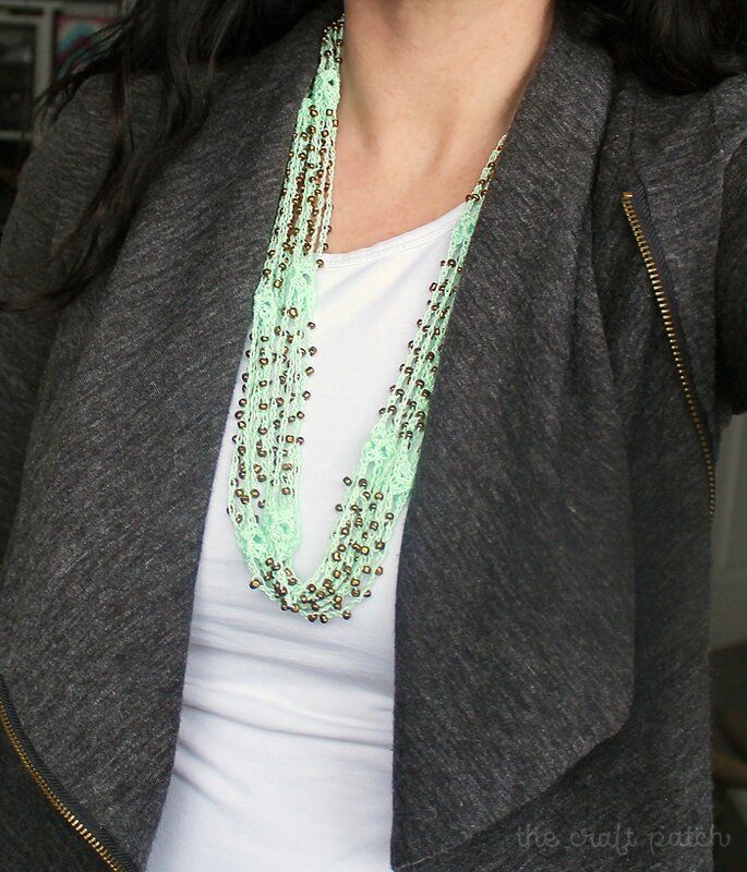 beaded necklace crochet tutorial