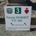 Panneau n°3. La tombe de François Sauvageot
