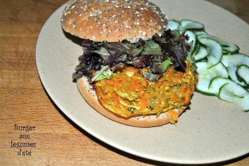 Burger aux légumes d'été
