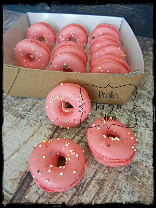macarons donut fraise tagada prunillefee