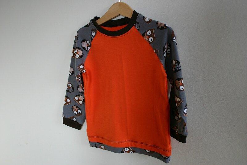 t-shirt chouette orange devant