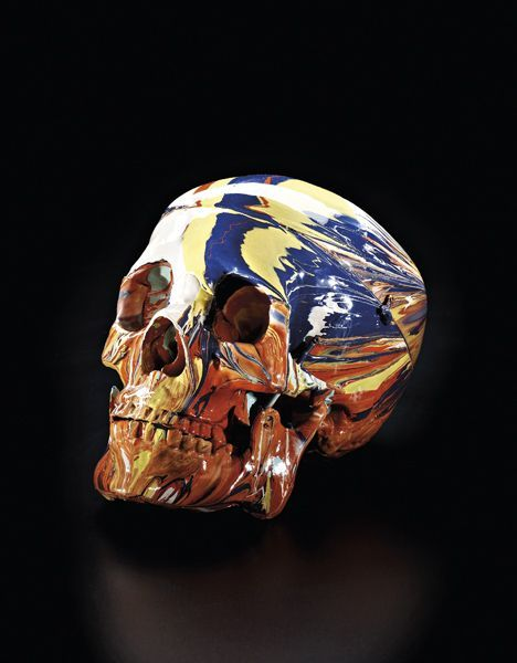 Damien Hirst, Happy Head, 2007. photo Philips de Pury & Co