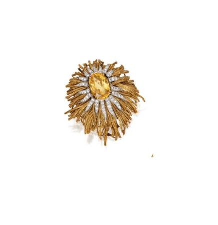 18_KARAT_GOLD__PLATINUM__YELLOW_SAPPHIRE_AND_DIAMOND_BROOCH_