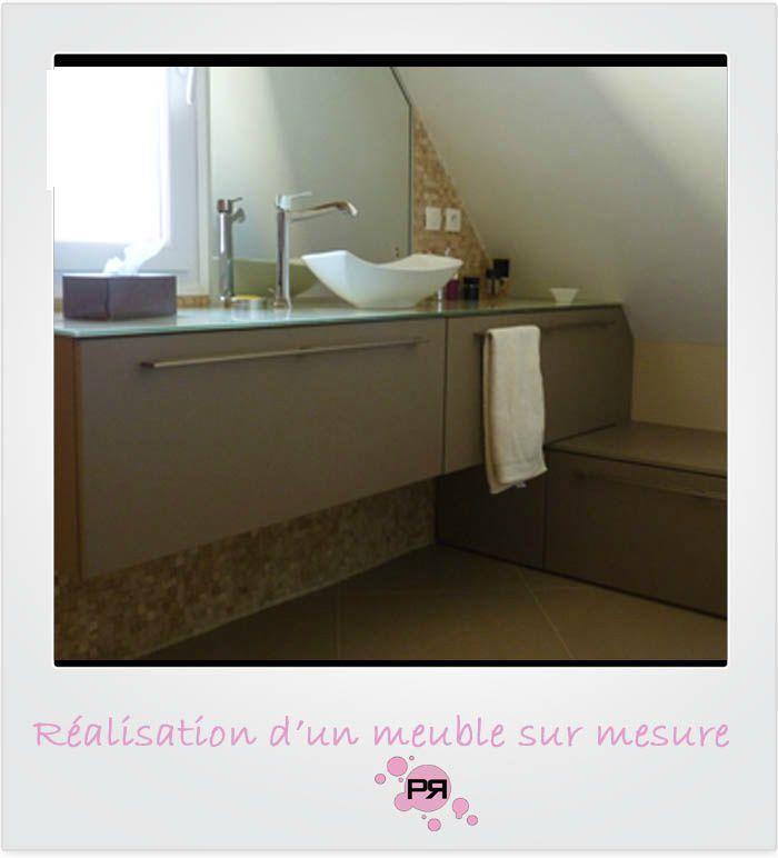 Am nagement de combles savigny le temple 77 pinkspace audrey clain architecte coach deco - Cree un meuble salle de bain en dur ...