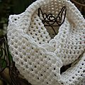 Snood blanc