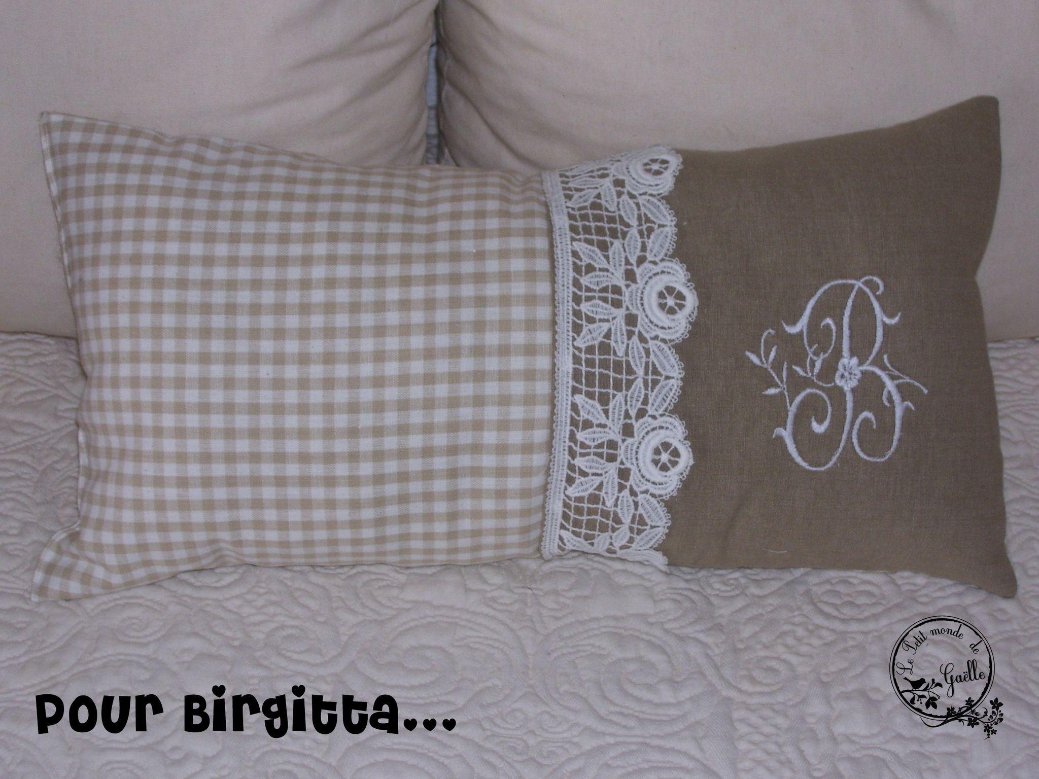 Coussin pour Birgitta...