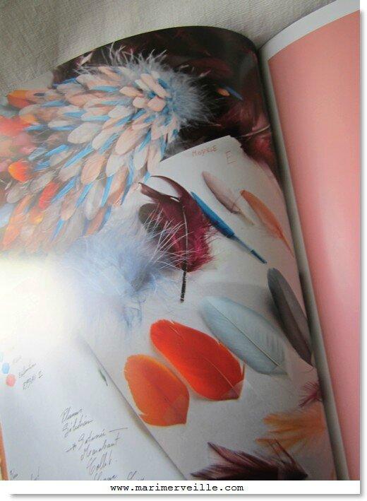 métiers d'art de la mode - le plumassier - marimerveille