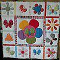 Patchwork fleurs et papillons