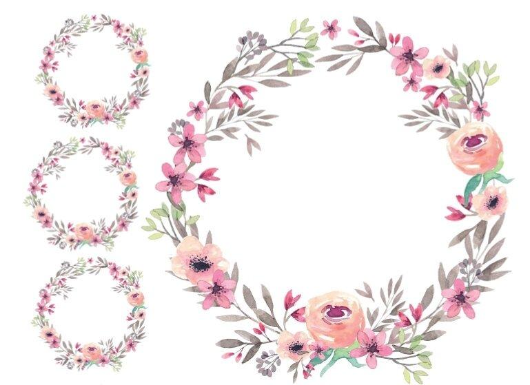couronne roses romantiques