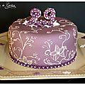 Gâteau violet