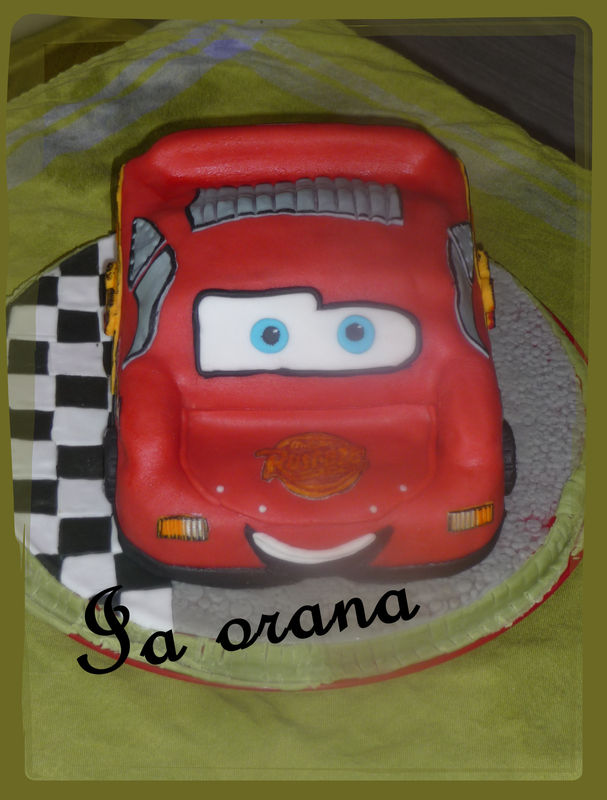 Gâteau voiture Cars/Cars cake
