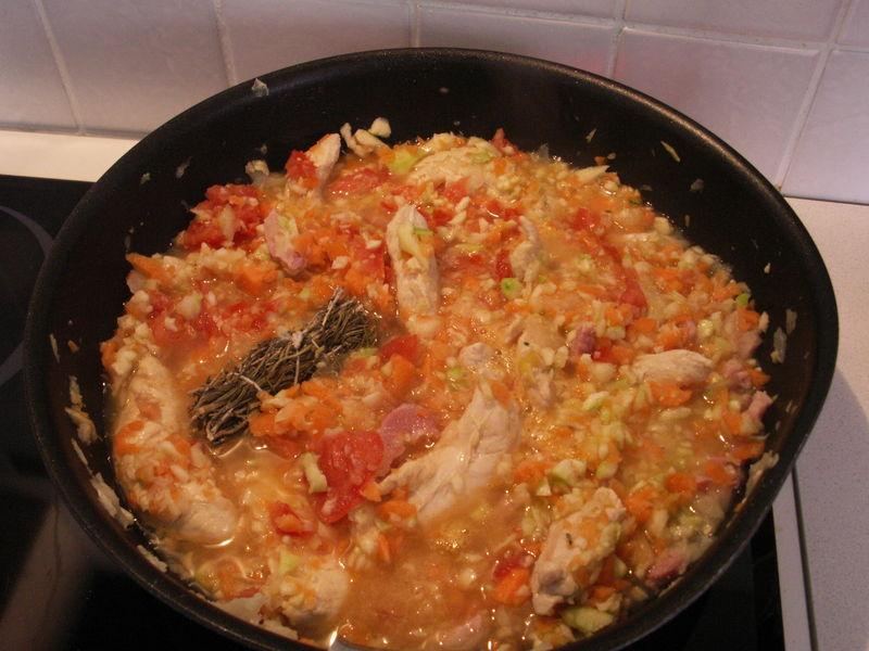 saute de poulet au pates titine cuisine pour sa famille