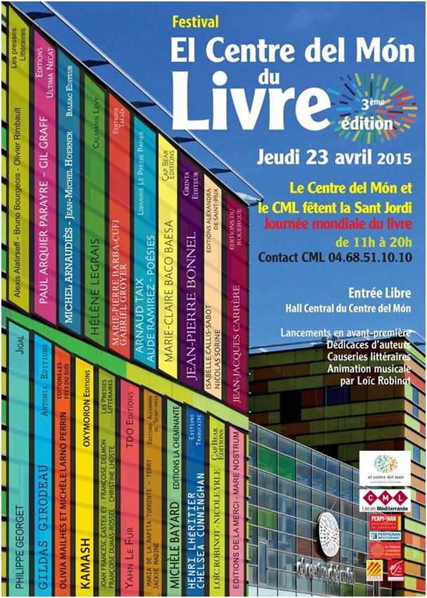 Festival El Centre del Mon du Livre - 3ème édition 2015