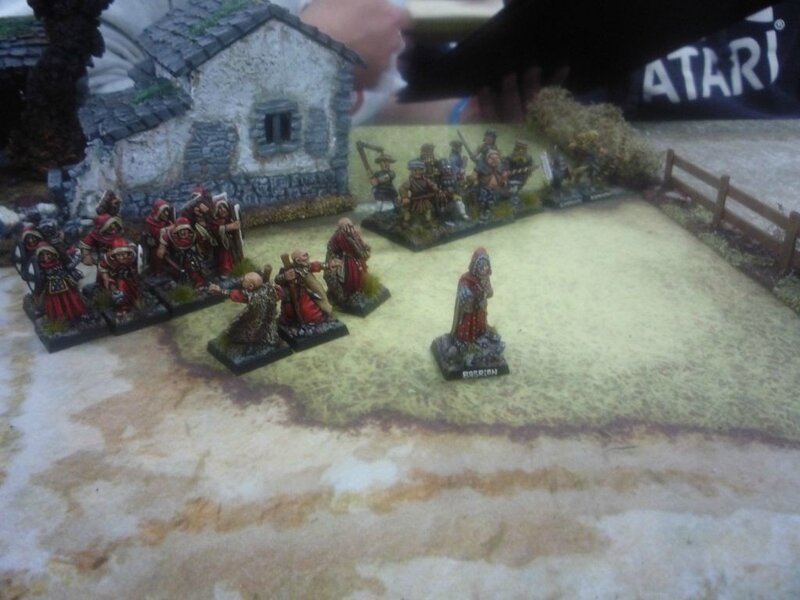 the monks and some angry hobbos, ready to send a lot of fireballs in our face (which they did pretty well)