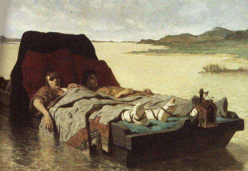 Les Fils de Clovis II (vers 1880), huile sur toile, Galerie d'art de la Nouvelle-Galles du Sud